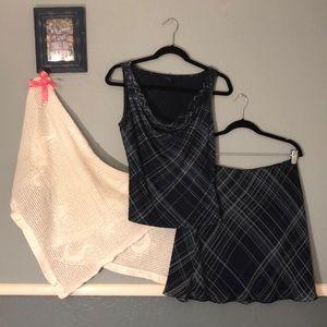 Express skirt/ tank dress set
